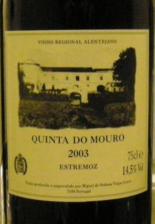 Quinta do mouro 2003 Estremoz
