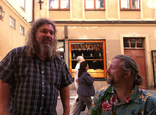 Peter Bennyson 19 glas och Magnus Reuterdahl. Foto: Anna Torndahl