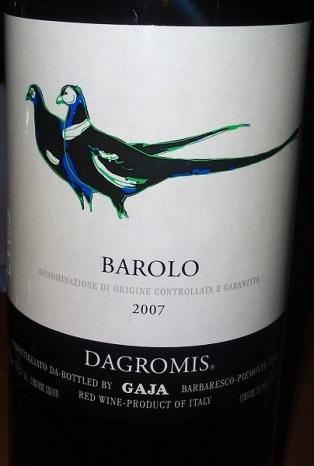 Barolo 2007 Dagromis