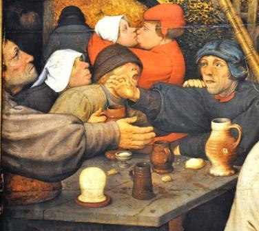 Detalj ur målning av Breugel den äldre (ca 1525-1569)