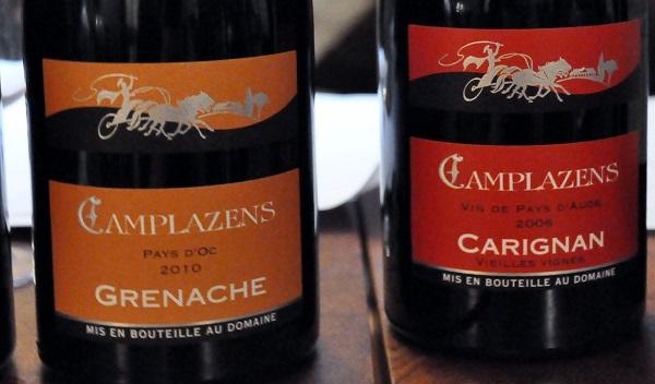 Camplazens Viognier Grenache 2010 Caeugnan 2006 Vin de Pays d'Oc