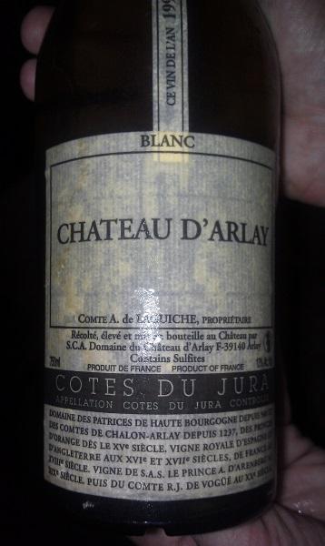Chateau D'Arlay Blanc 1993