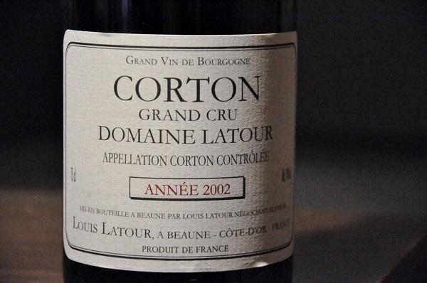 Louis Latour Corton Année 2002