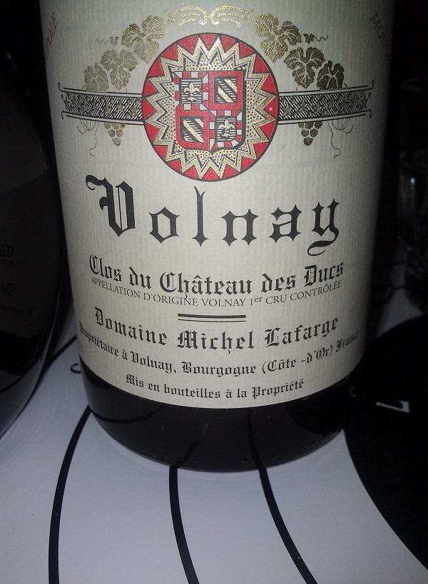 Volnay Clos du Chateau des ducs domaine Michel Lafarge 1996