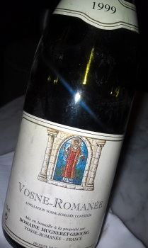 Vosne- Romanée Domaine Mugnert-Gibourg 1999