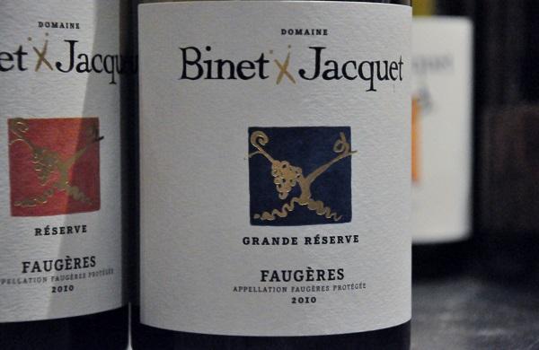 Binet Jacquet Faugères Grande Réserve 2010