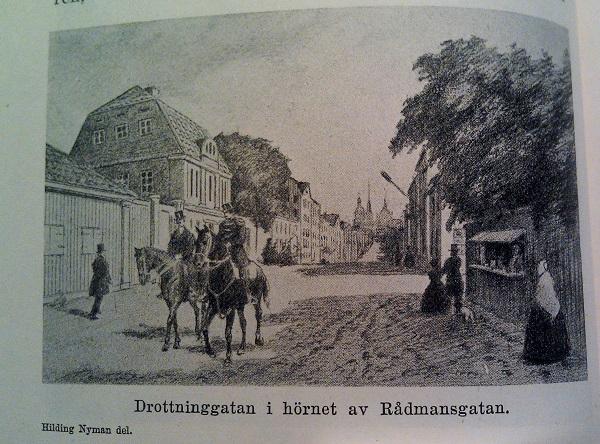 Drottningatan - Rådmansgatan 1800-tal