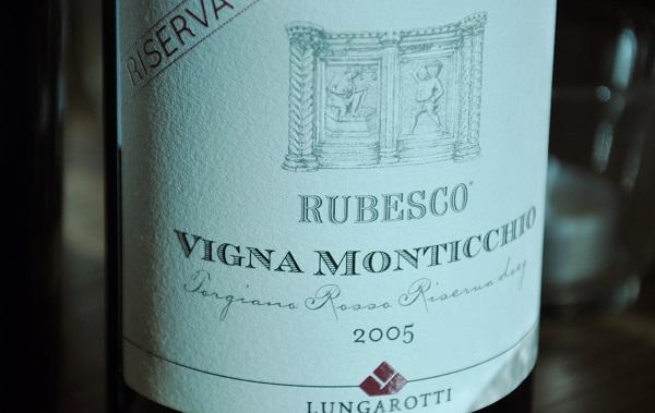Lungarotti Riserva Rubesco Vigna Monticchio 2005
