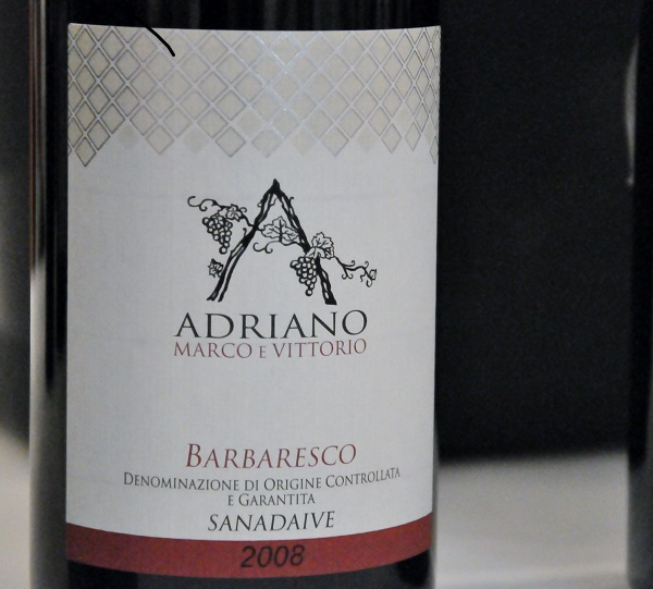 Barbaresco Sandaive, Adriano, 2008, Piemonte, Italien