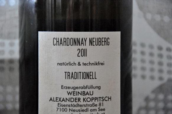 Koppitsch Chardonnay Neuberg 2011 baksida