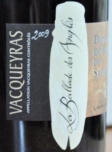 La Ballade des Anglés Vacqueyras 2009 Domaine du Bois de Saint Jean 2 (445x600)