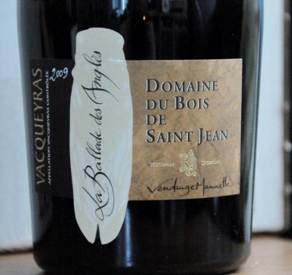 La Ballade des Anglés Vacqueyras 2009 Domaine du Bois de Saint Jean (600x564)