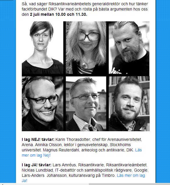 Debattle i Almedalen 2013   Riksutställningar