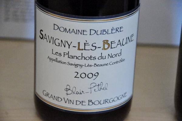 Domaine Dublere Savigny Les Beaune 2009 (600x398)