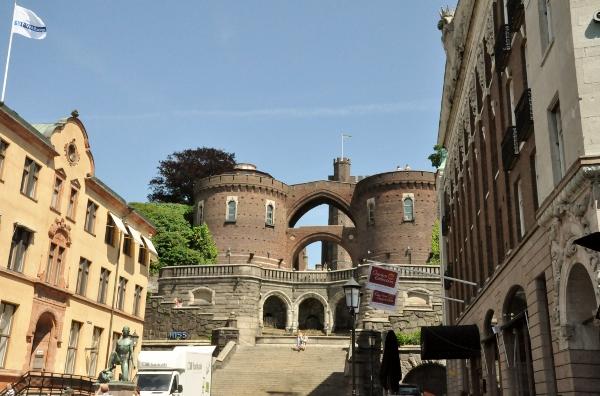 Kärnan, en del av det medeltida Helsingborgs slott. Kuriosa: det nyttjades under en period  som lagerlokal av Helsingborgs bryggeri.
