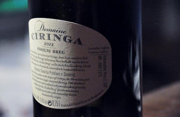 Domaine Ciringa Fosilni Breg Sauvignon Blanc 2012 baksida (600x390)