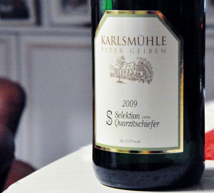 Karlsmühle Peter Geiben selektion von Quartzitsschiefer Lorenzhöfer Riesling Auslese 2009 (800x724)