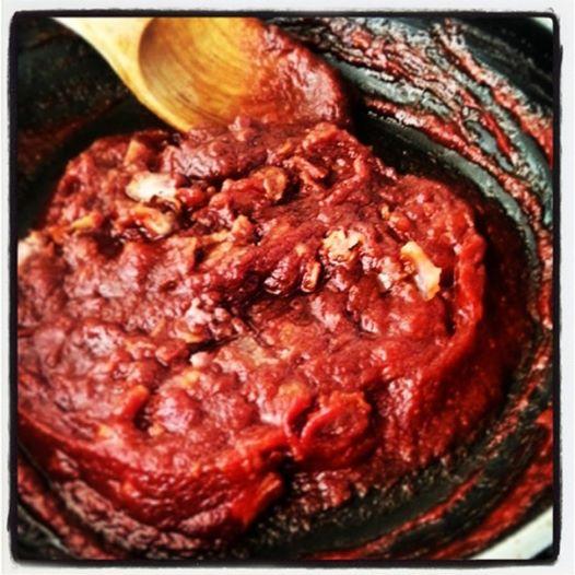 chili och baconsås