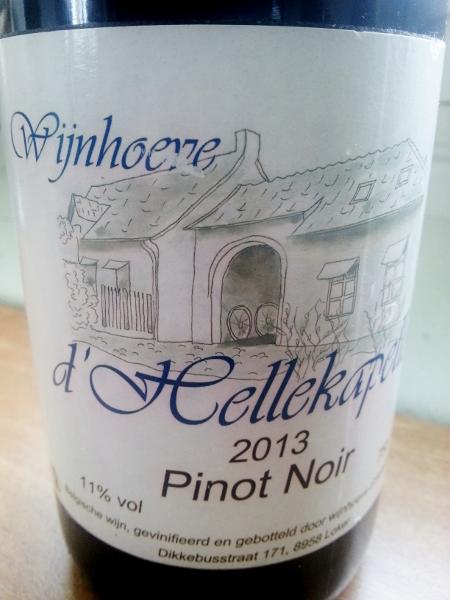 Wijnhoeve d'Hellekapell pinot noir 2013