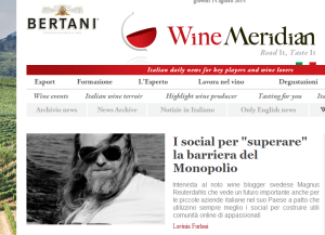 Wine Meridian  il primo web magazine che supporta il vino nel mondo