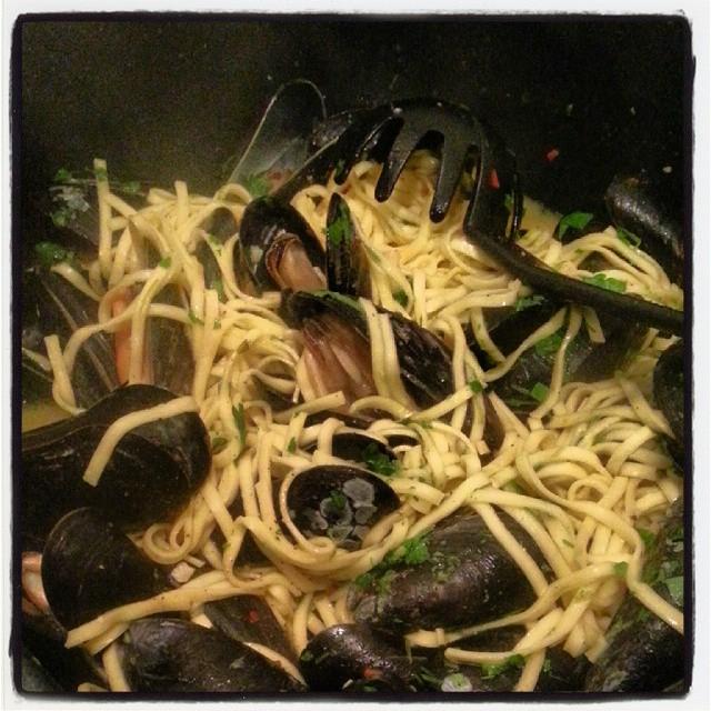 Blåmusslor och spagetti 2